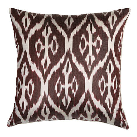 Silk Ikat Pillow, Smoky Rose ,  , large