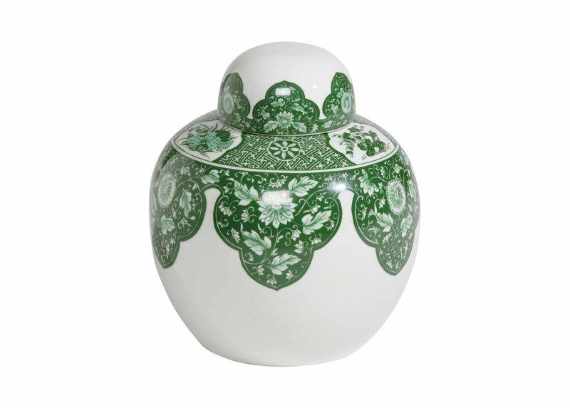 Green Round Lidded Jar | Tuggl