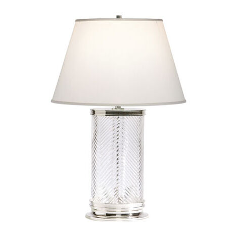 Herringbone Glass Table Lamp ,  , large