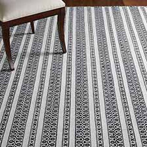 Woven Symmetry Rug, Cream/Black ,  , hover_image