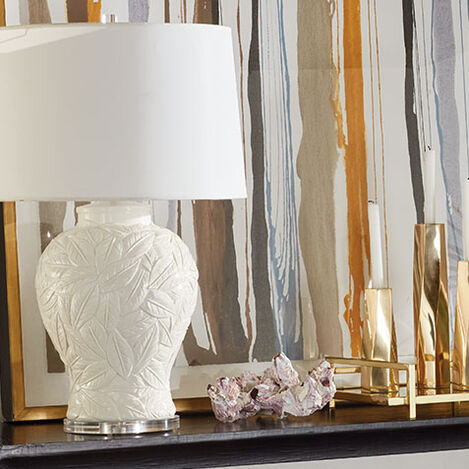 Flora White Table Lamp Product Tile Hover Image 096113