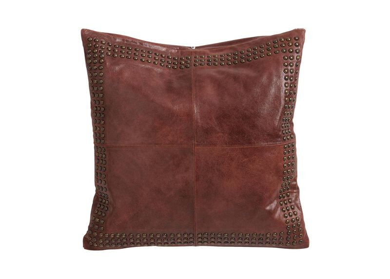 Worn Leather Pillow