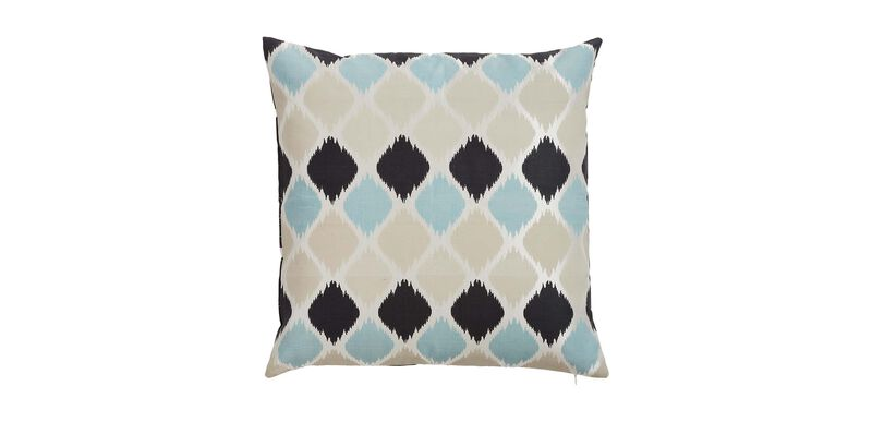 Printed Silk Ogee Pillow