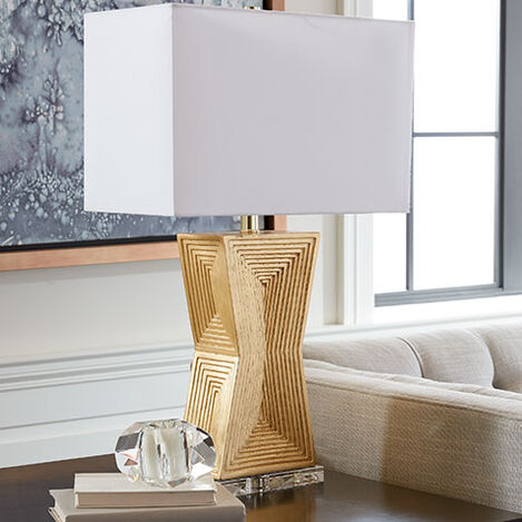 Saxon Geometric Table Lamp Product Tile Hover Image 096114