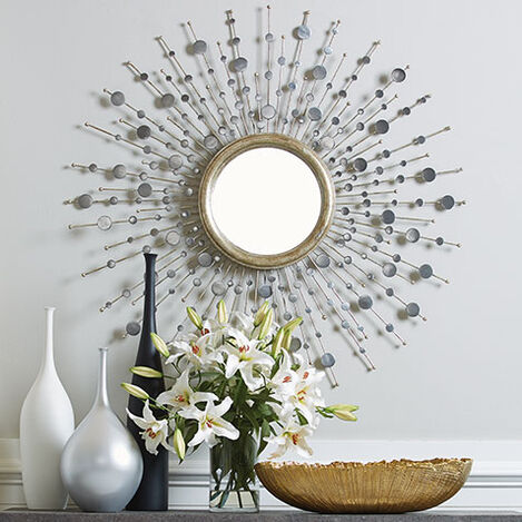 Silver Toned Soleil Mirror Product Tile Hover Image 074080