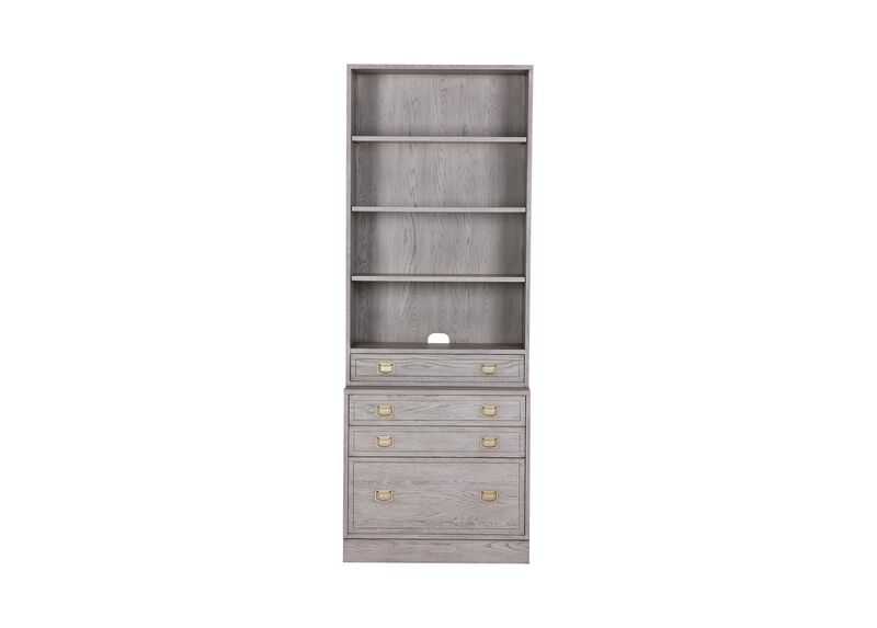 Callum Single File Bookcase ,  , large_gray