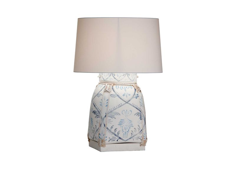 Jasmine blue bamboo table lamp table lamps ethan allen