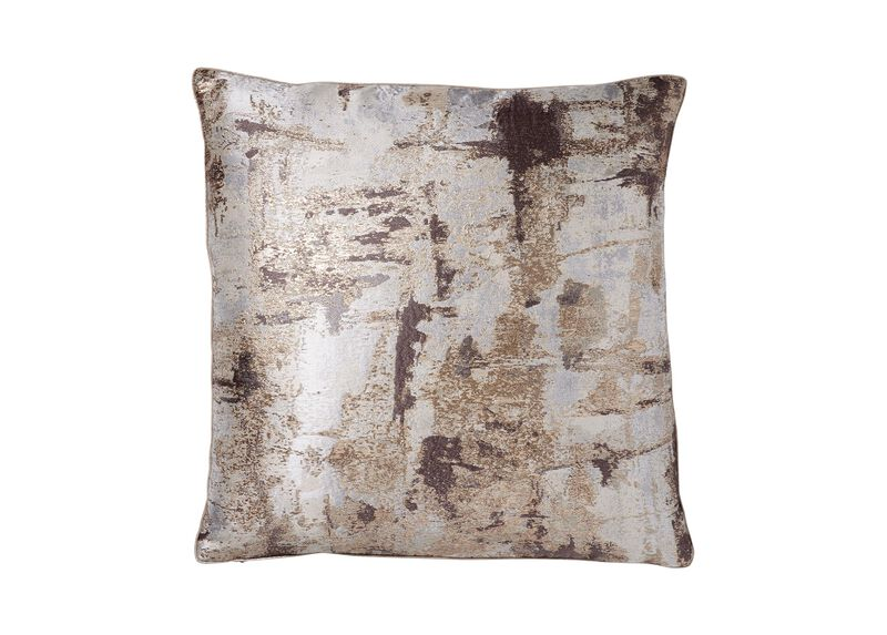 Melange Pillow, Mocha/Gold | Tuggl