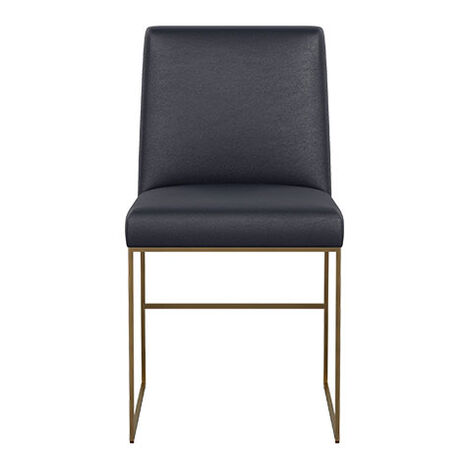 Jewel Metal Base Leather Dining Chair Product Tile Image 712514