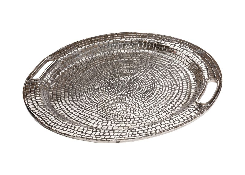 Round Croco Tray