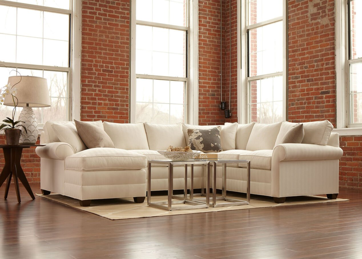 Bennett Roll Arm Sectional With Chaise Sectionals