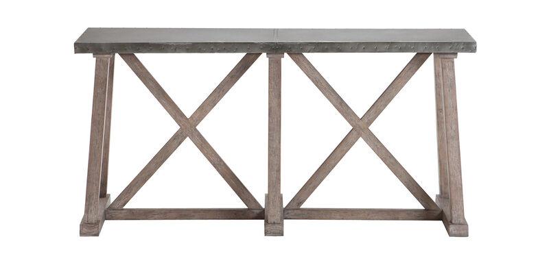 Bruckner Metal-Top Console Table