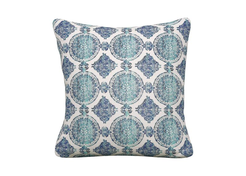 Falco Indigo Medallion Outdoor Throw Pillows Ethan Allen Ethan Allen Classy Ethan Allen Decorative Pillows