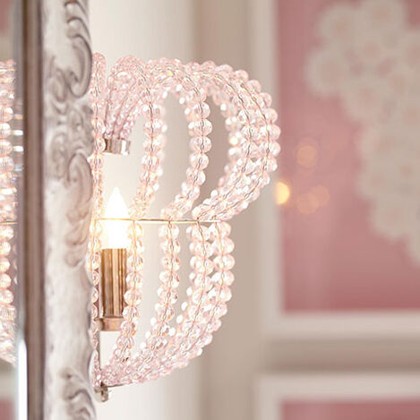Minnie Mouse Beaded Wall Sconce Product Tile Hover Image 098002   PTL