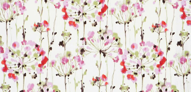 Dandelion Pink Fabric By the Yard