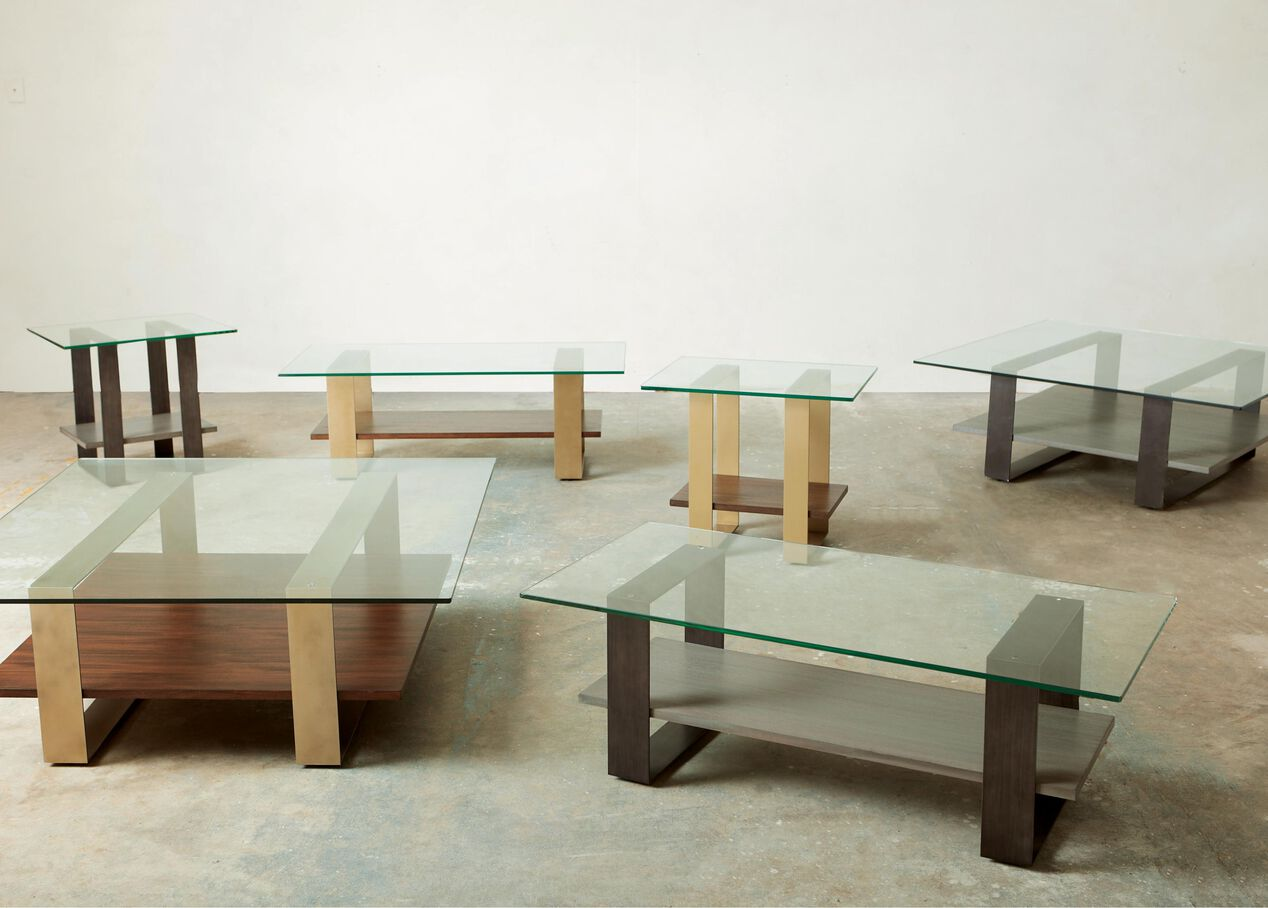 Rosemoor Square Glass Top Coffee Table Ethan Allen