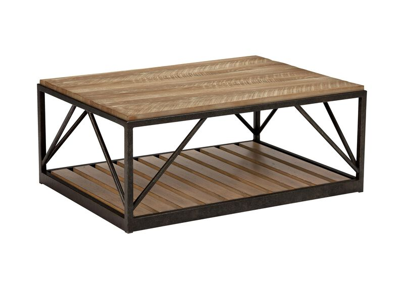 Beam Metal Base Coffee Table ,  , large_gray