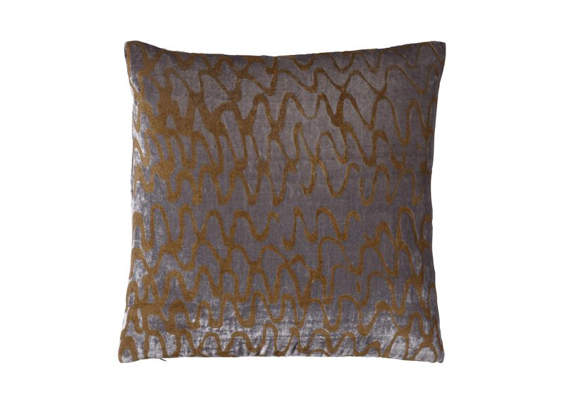 Ripple Pillow, Gray/Gold ,  , large_gray