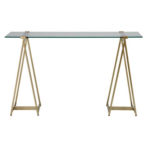 Verena Glass-Top Sawhorse Desk Product Tile Image 149390