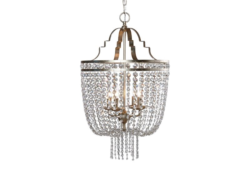 Small Alexa Antique Silver Chandelier