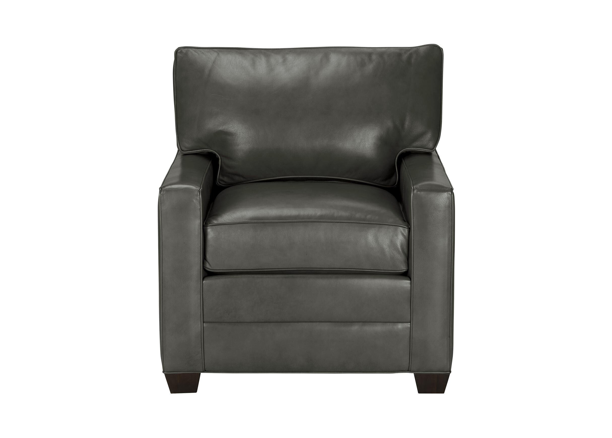 Bennett Track Arm Leather Chair, Quick Ship | Tuggl