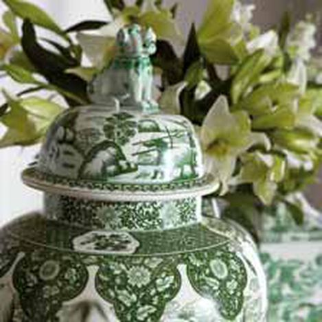 Green and White Foo Dog Jar ,  , hover_image