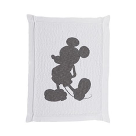 Mickey Mouse Knit Vintage Stroller Blanket, Mouse Grey ,  , hover_image