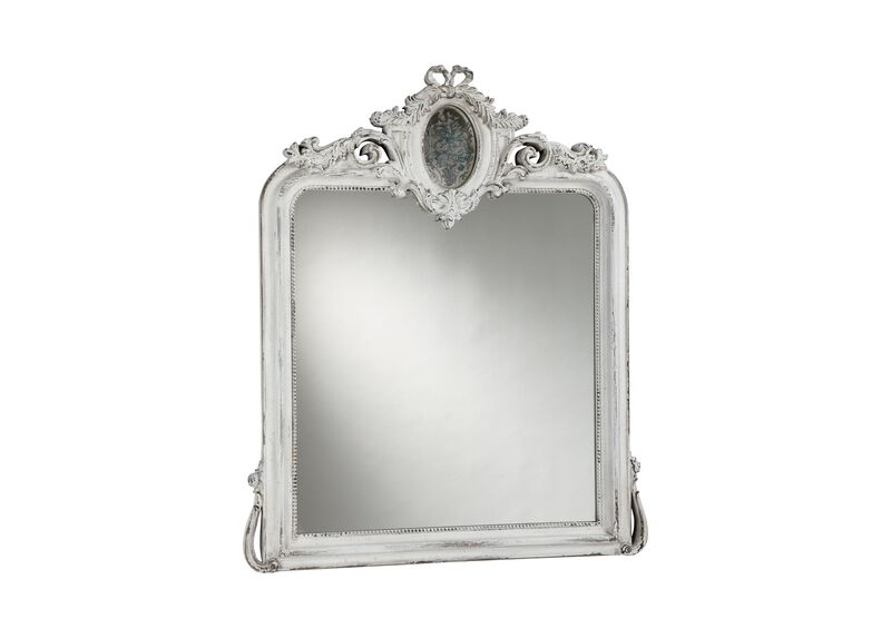 Aged White Provincial Mirror ,  , large_gray