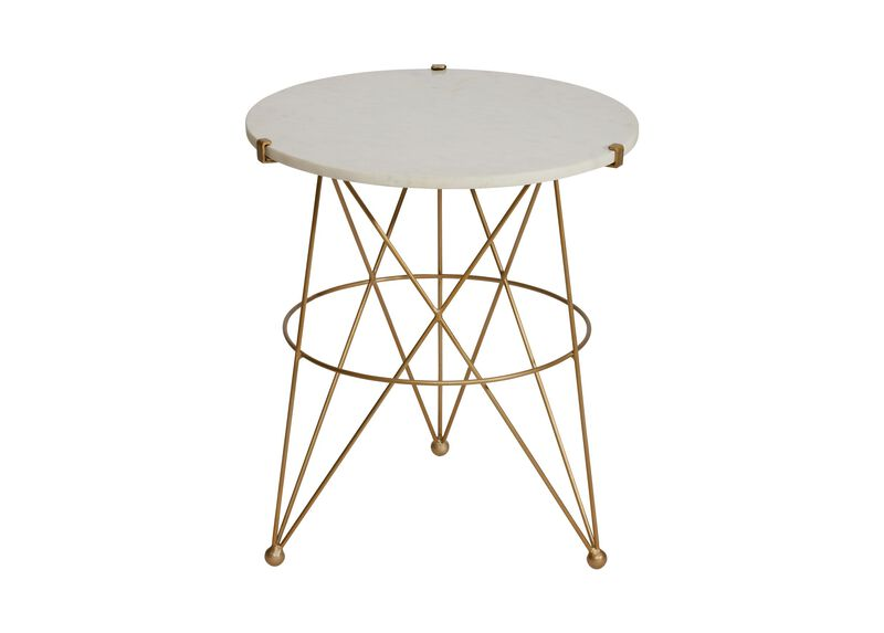 Estella Marble Top Modern Handmade Accent Table Ethan Allen