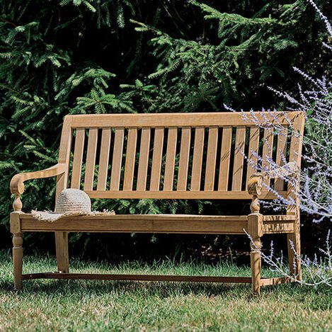 Millbrook Wood-Seat Garden Bench Product Tile Hover Image 407332   728