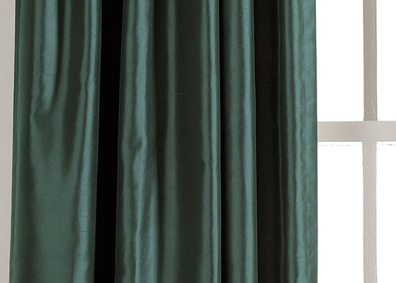 Teal Satin Dupioni Fabric by the Yard