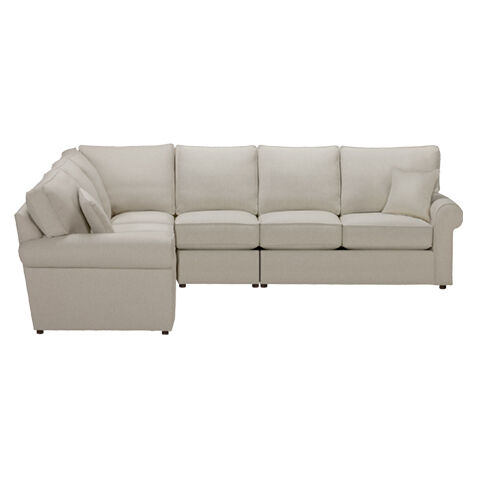 Retreat Roll-Arm Four Piece Sectional Quick Ship   large ...  sc 1 st  Ethan Allen : leather sleeper sectional - Sectionals, Sofas & Couches