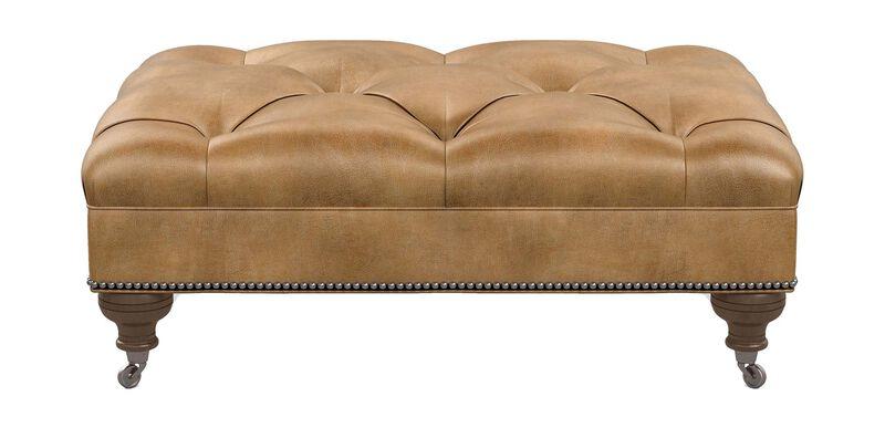 Anton Leather Ottoman