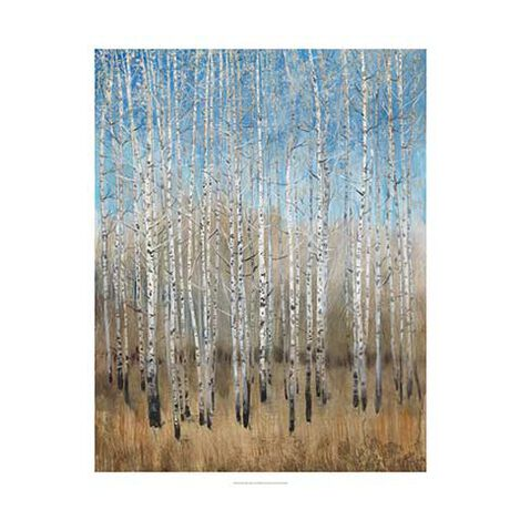 Dusty Blue Birches II Product Tile Image 1130336