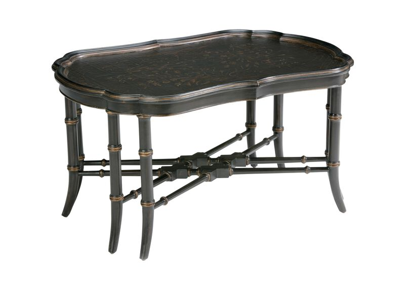 Mirabelle Chinoiserie Coffee Table, Black