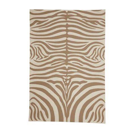 Zebra Rug, Sand/Ivory ,  , large