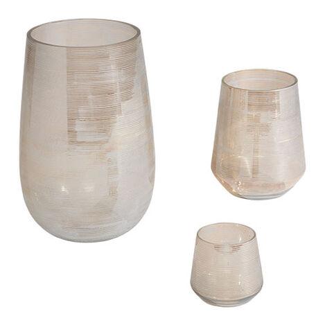 Champagne Etched Vase ,  , large