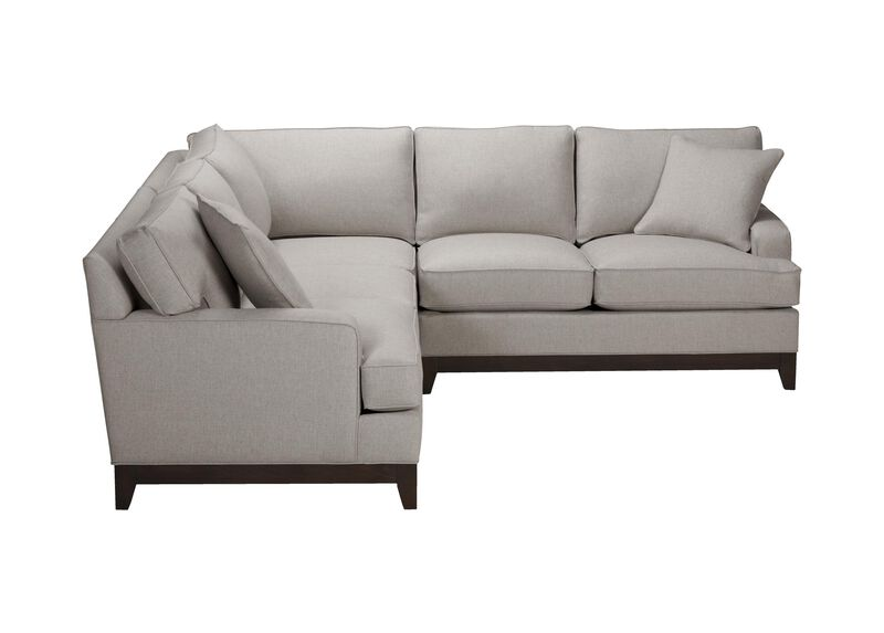 Arcata Three Piece Sectional, Quick Ship , Hailey Slate (Q1054), solid texture , large_gray