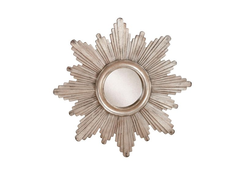 "26"" Silver Sunburst Mirror"