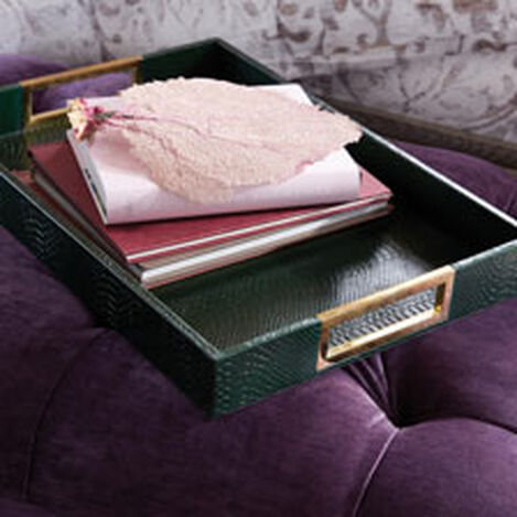 Emerald Snakeskin Tray ,  , hover_image