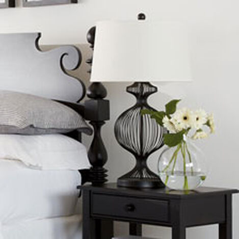 Kenzie Black Cage Table Lamp ,  , hover_image