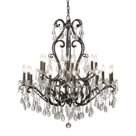 Whitney Slate Chandelier ,  , large