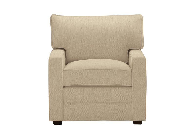 Bennett Track-Arm Chair, Quick Ship , Hailey Oatmeal (Q1033), solid texture , large_gray