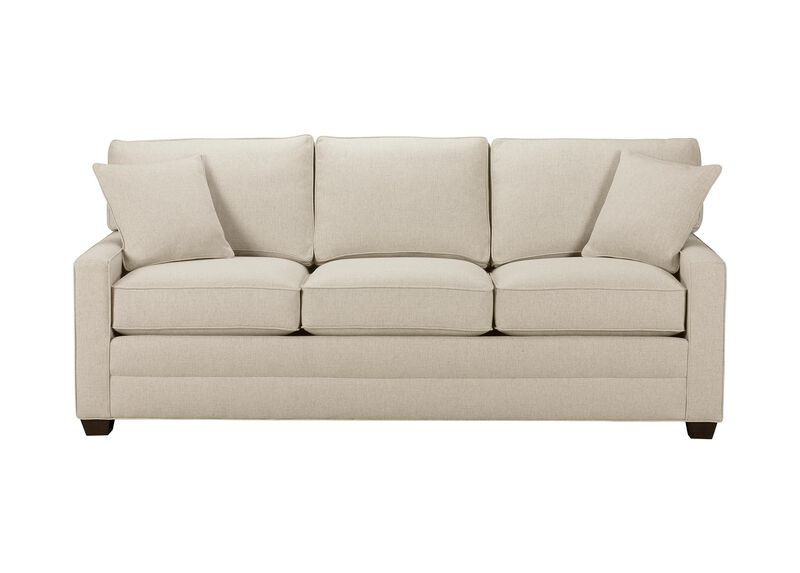 Bennett Track-Arm Sofa, Quick Ship , Hailey Natural (Q1031), solid texture , large_gray