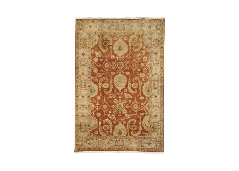 Indo Herat Rug, Rust/Ivory ,  , large_gray
