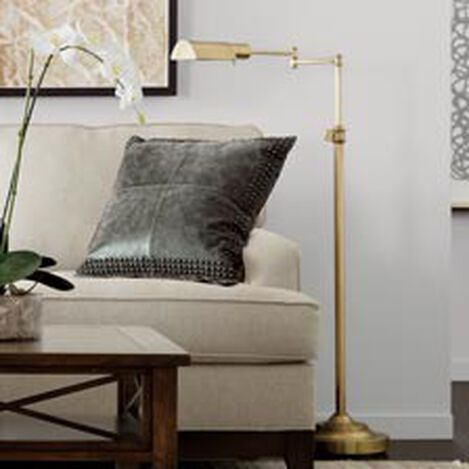 Shop floor lamps lighting collections ethan allen large brass pharmacy floor lamp hoverimage mozeypictures Choice Image