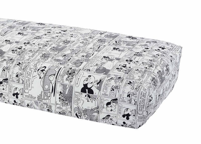 Comic Strip Crib Sheet, Mickey's Ears