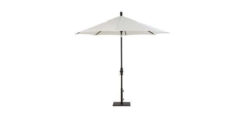 9 ft. Single Vent Umbrella White
