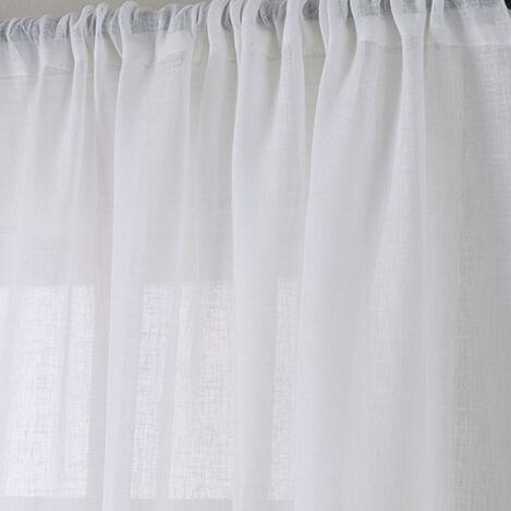 White Linen Sheer Fabric ,  , large