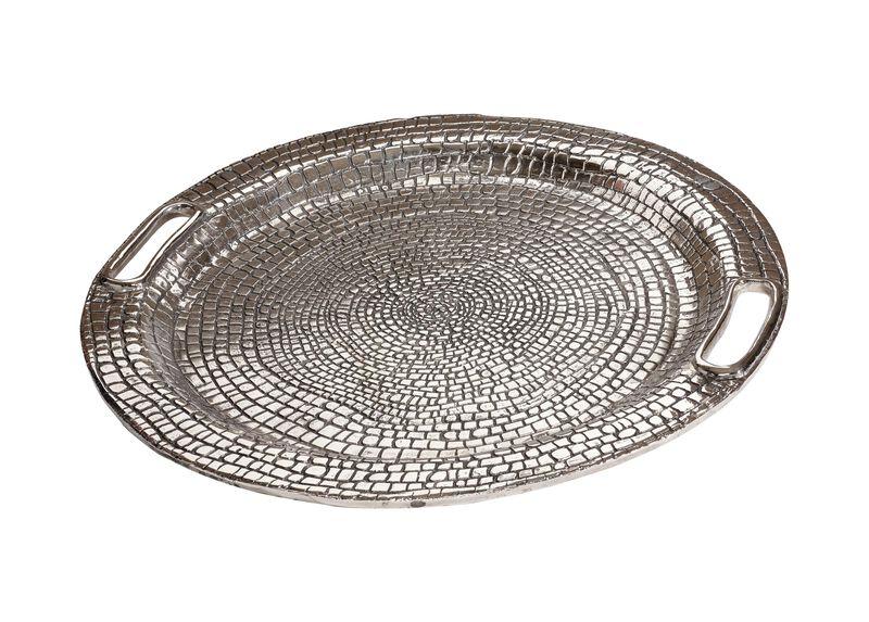 Round Croco Tray ,  , large_gray